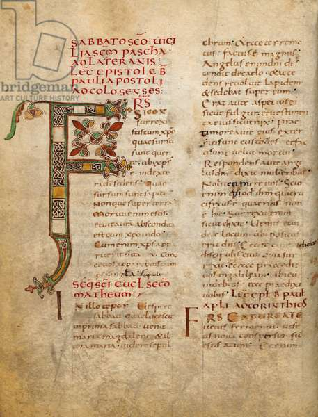 Illuminated page with the F initial from the Lectiones sacrae et Evangelia iuxta ritum sanctae romanae Ecclesiae
