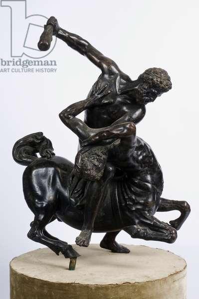 Hercules Killing Nessus, 1550-99 (platinum-plated bronze)