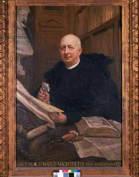 Portrait of Monsignor Marco Magistretti, 1922 (oil on canvas)