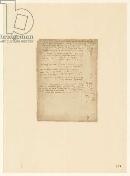 Codex Atlanticus, sheet 603 recto