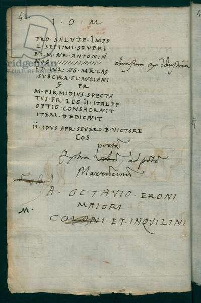Inscriptiones variis in urbibus ac locis repertae ac descriptae, collectae a Mariangelo Accursio