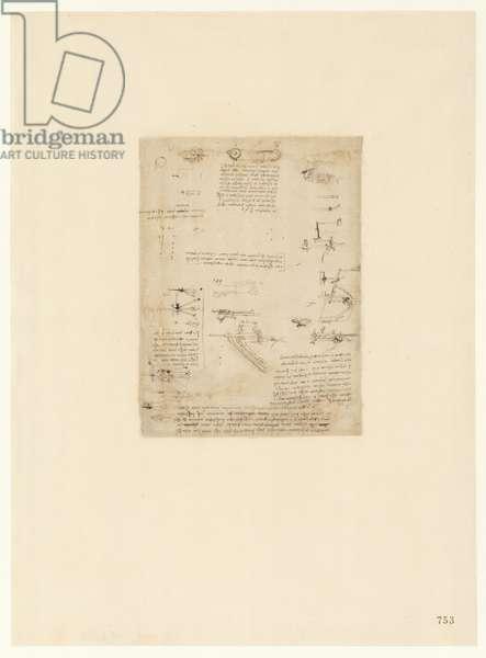 Codex Atlanticus, sheet 753 recto
