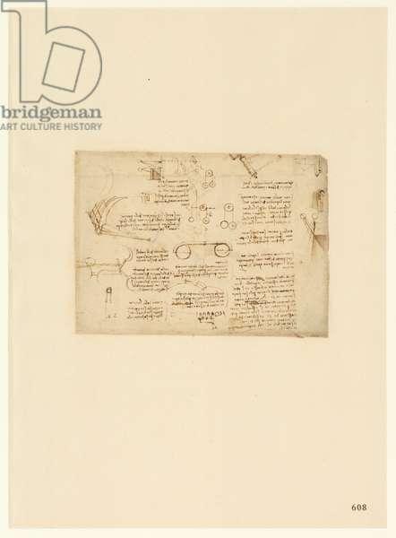 Codex Atlanticus, sheet 608 recto