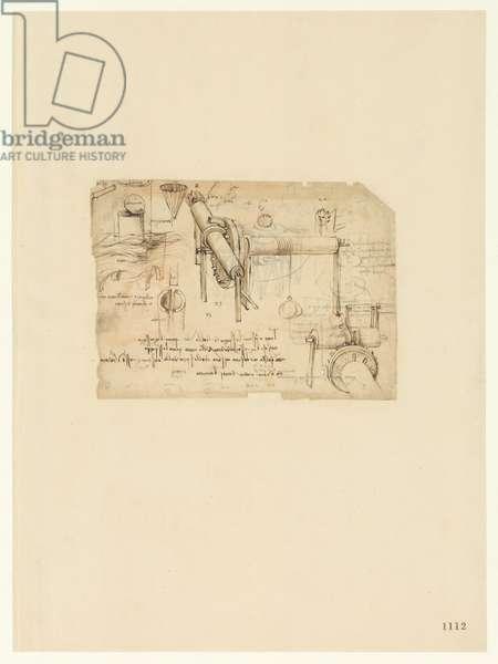 Codex Atlanticus, sheet 1112 recto