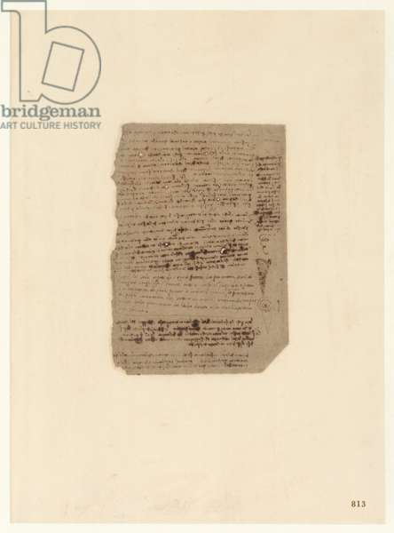 Codex Atlanticus, sheet 813 recto