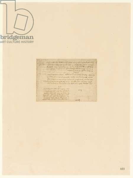 Codex Atlanticus, sheet 323 recto