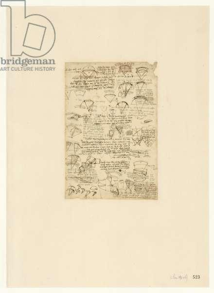 Codex Atlanticus, sheet 523 recto