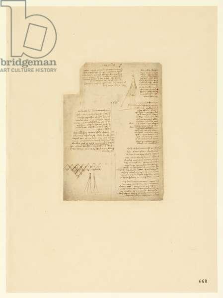 Codex Atlanticus, sheet 668 recto