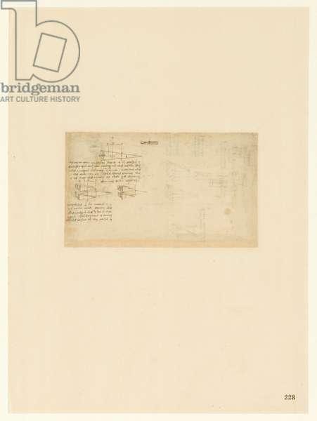 Codex Atlanticus, sheet 228 recto