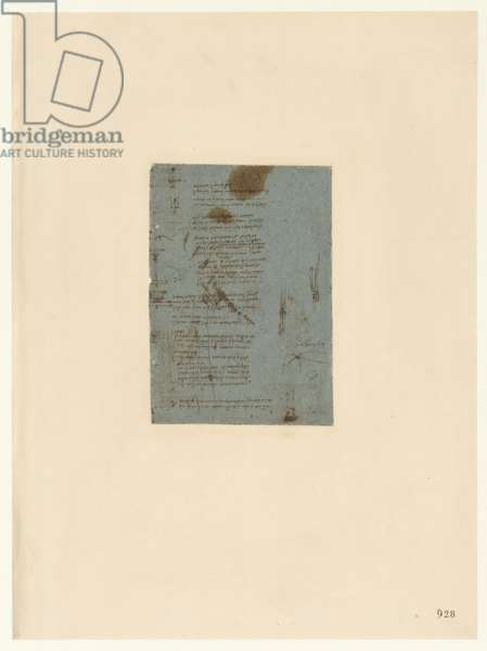 Codex Atlanticus, sheet 928 recto
