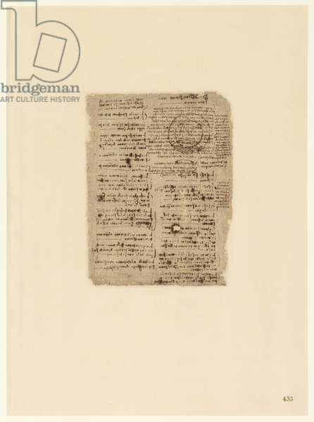 Codex Atlanticus, sheet 433 recto