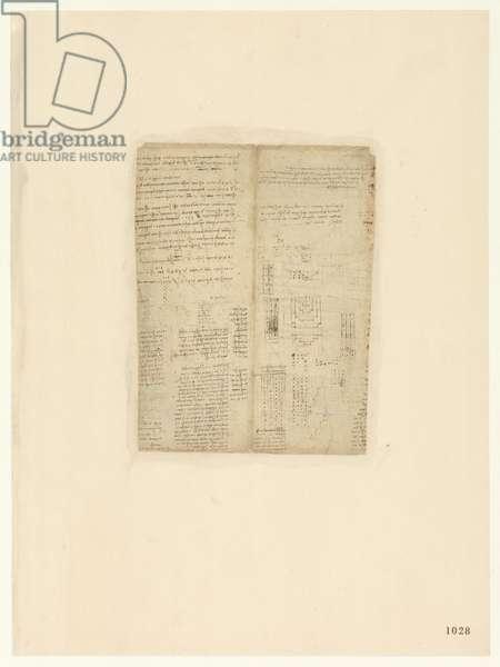 Codex Atlanticus, sheet 1028 recto