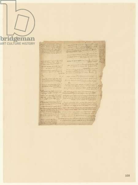 Codex Atlanticus, sheet 338 recto