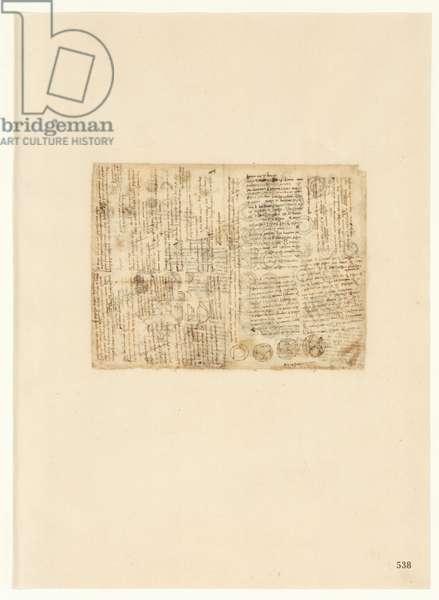 Codex Atlanticus, sheet 538 recto
