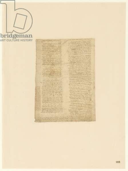 Codex Atlanticus, sheet 188 recto