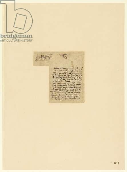 Codex Atlanticus, sheet 838 recto