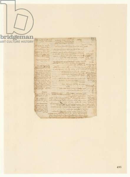 Codex Atlanticus, sheet 493 recto