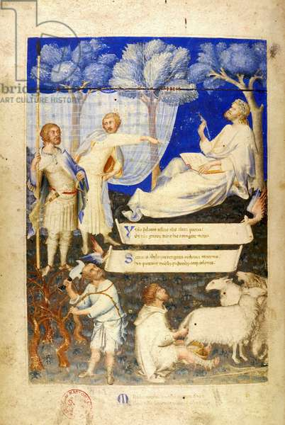 Frontispiece of the Ambrosian Virgil, also known as Petrarch's Virgil,  c.1300-26 (vellum)