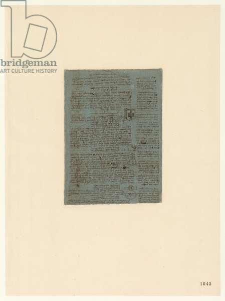 Codex Atlanticus, sheet 1043 recto
