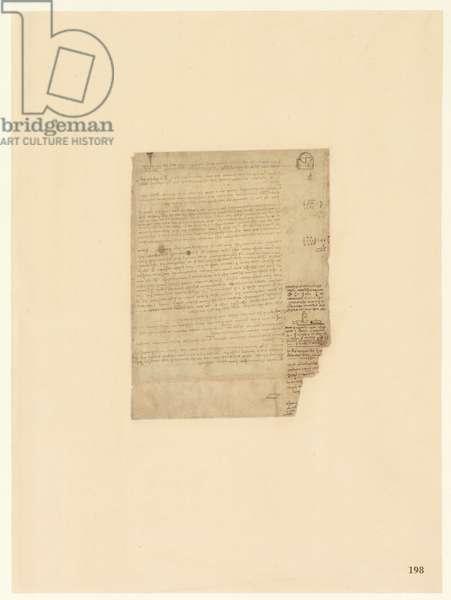 Codex Atlanticus, sheet 198 recto