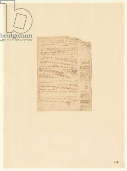 Codex Atlanticus, sheet 648 recto