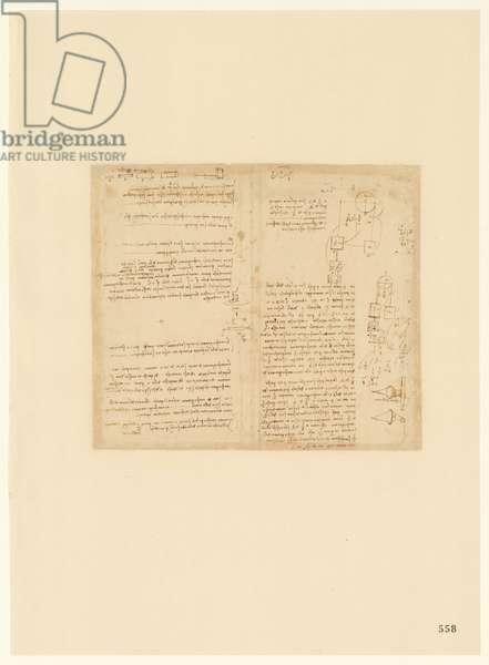 Codex Atlanticus, sheet 558 recto