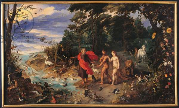 Expulsion from Paradise, 1600-24 (oil on panel)