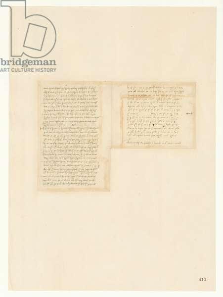 Codex Atlanticus, sheet 413 recto