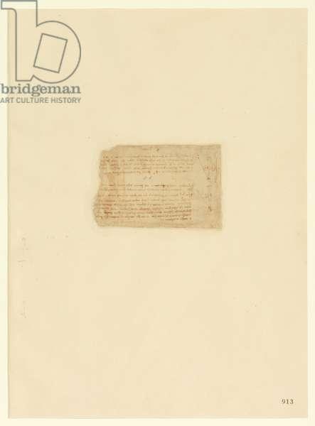 Codex Atlanticus, sheet 913 recto