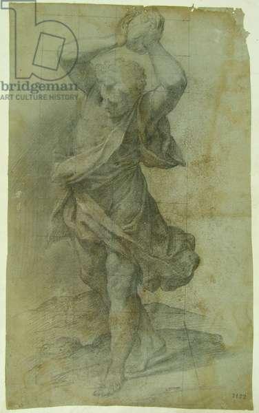 Man Throwing a Stone