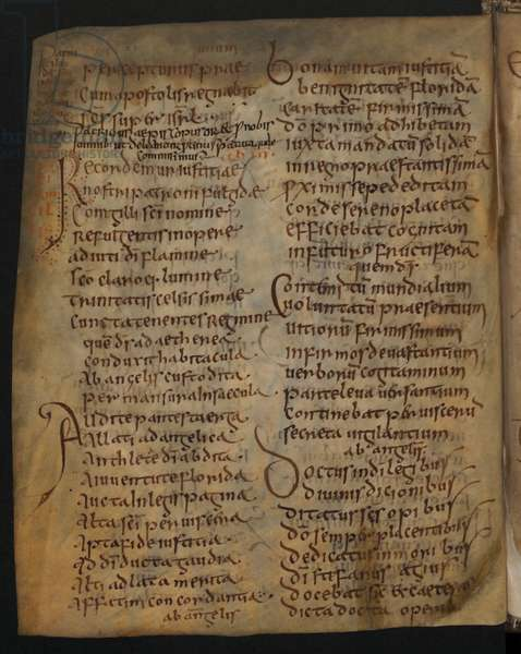 Page from the Antiphonary of Bangor, 680-91 (vellum)