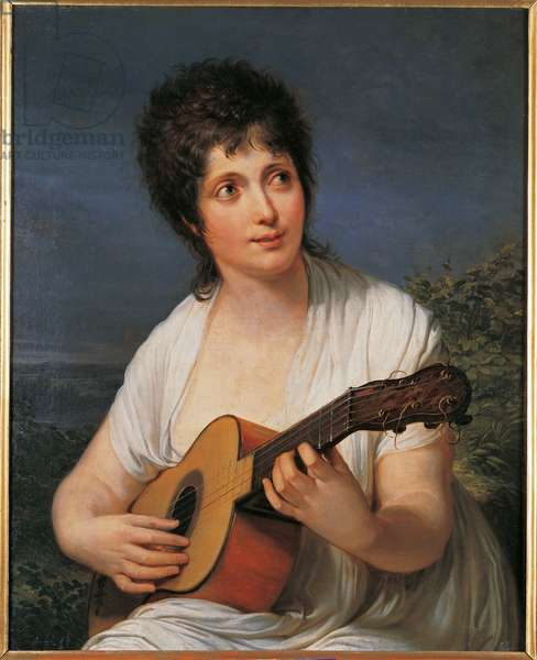 Portrait of Carolina Pitrot Angiolini, 1805-10 (oil on canvas)