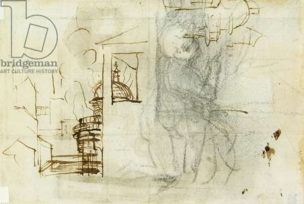 Architectural Sketches and Study of a Child