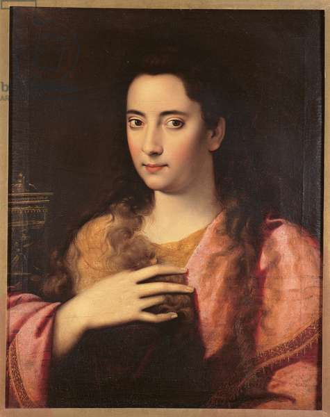 Portrait of Woman as Mary Magdalene, c.1594 (oil on canvas)