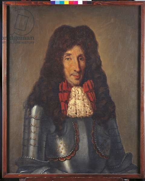 Portrait of a Man Wearing Armour (oil on canvas)