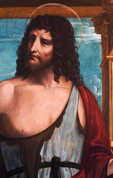 Saint John the Baptist, detail from The Madonna and Child with Saint John the Evangelist and Saint John the Baptist, 1510-20 (oil on panel)