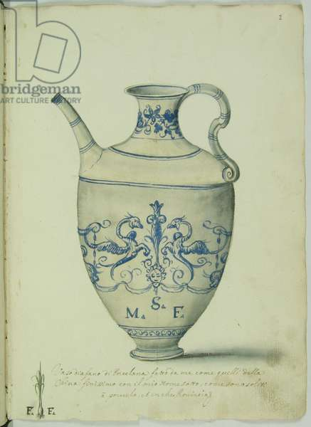 Drawing of a ware vase