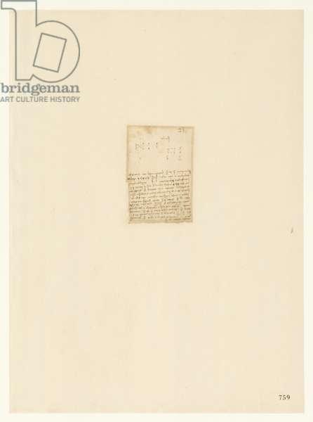 Codex Atlanticus, sheet 759 recto