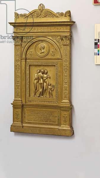 Monument to Andrea Appiani, after Bertel Thorvaldsen (1770-1844), 19th century (gilt bronze)