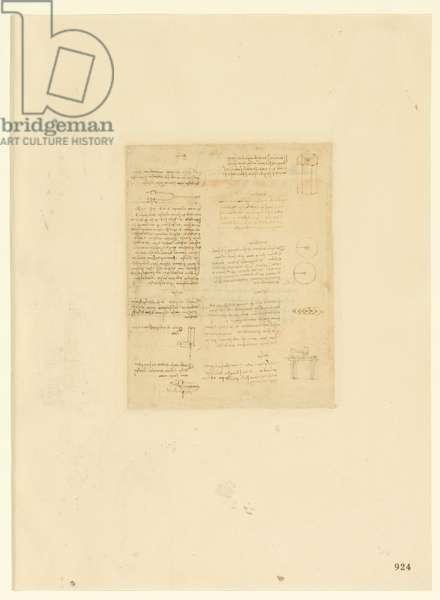 Codex Atlanticus, sheet 924 recto