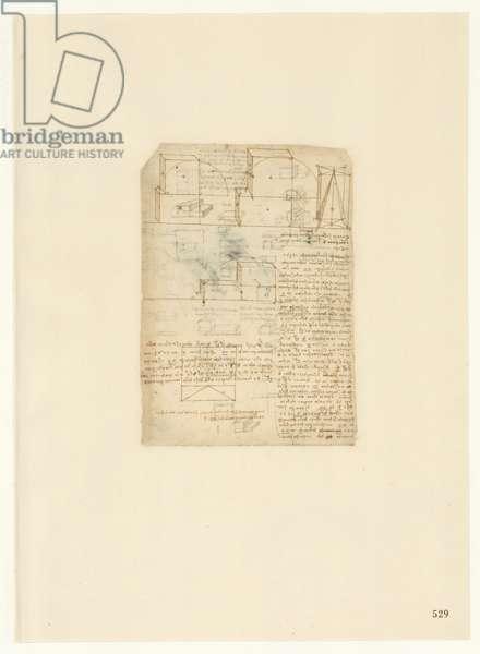 Codex Atlanticus, sheet 529 recto