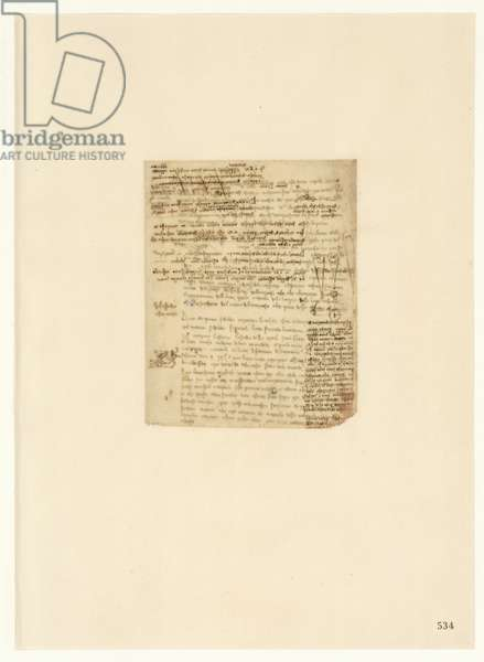 Codex Atlanticus, sheet 534 recto