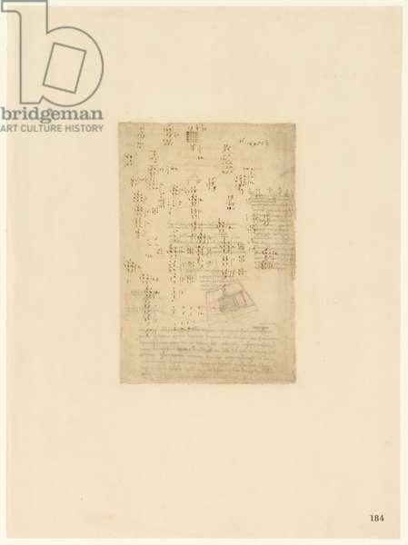 Codex Atlanticus, sheet 184 recto