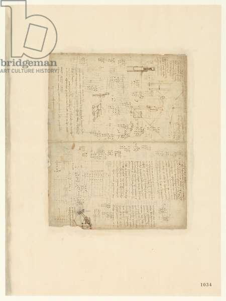 Codex Atlanticus, sheet 1034 recto