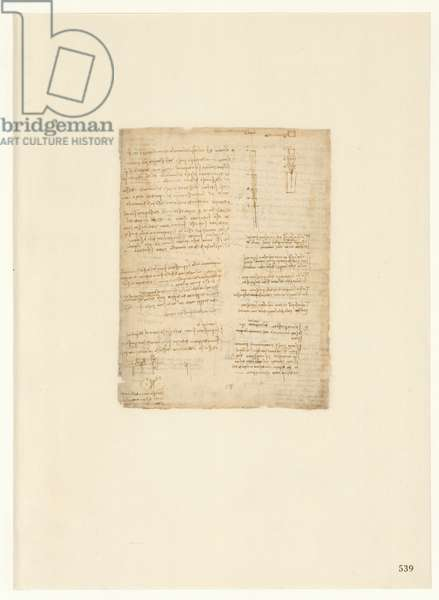 Codex Atlanticus, sheet 539 recto