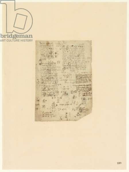 Codex Atlanticus, sheet 189 recto