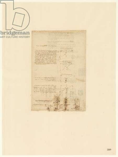 Codex Atlanticus, sheet 289 recto