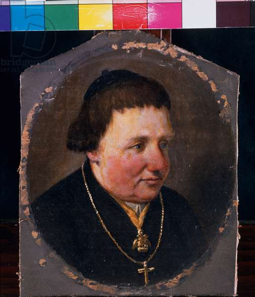Portrait of the Bishop of Brescia, Gabrio Maria Nava, 1831 (oil on canvas mounted on panel)