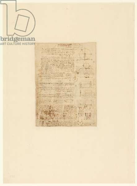 Codex Atlanticus, sheet 589 verso
