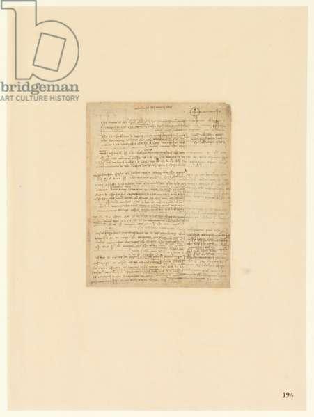 Codex Atlanticus, sheet 194 recto